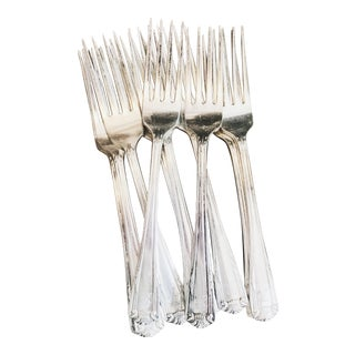 Set of 12 Vintage Silver Plated Forks from the St Regis Hotel NYC For Sale