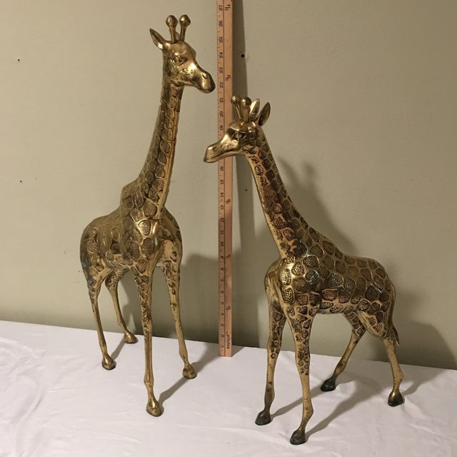 Mid-Century Modern Brass Giraffe - A Pair For Sale - Image 9 of 9