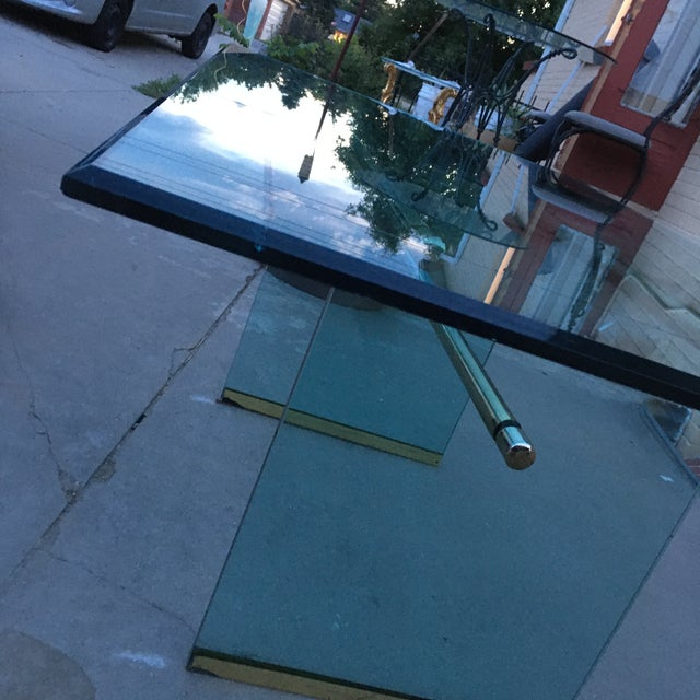 Pace Collection Glass and Brass Mid-Century Modern Dining Table by Pace For Sale - Image 4 of 13