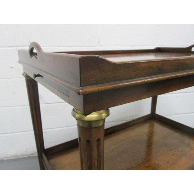 1950s French Rosewood Two-Tier Bar Cart For Sale - Image 5 of 7