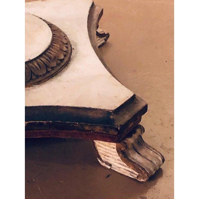 Antique Urn Form Base Verne Eglomise Center Glass Top Table For Sale - Image 12 of 13