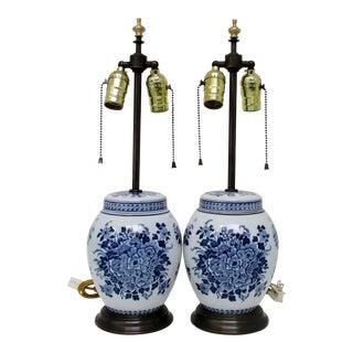 Delft Blue Lamps - a Pair