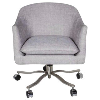 Mid-Century Modern Swivel Desk Chair Designed by Ward Bennett For Sale