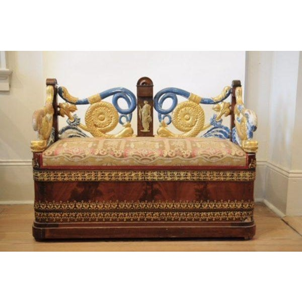 Early 19th Century Early 19th c. Russian Settee For Sale - Image 5 of 5