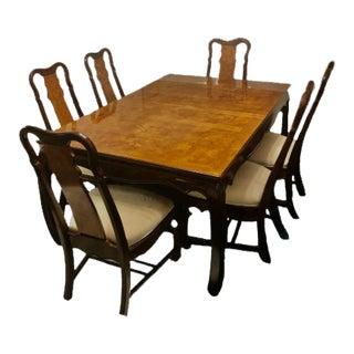 Vintage Vintage Universal Furniture Chinoiserie Dining Set - Set of 10 For Sale