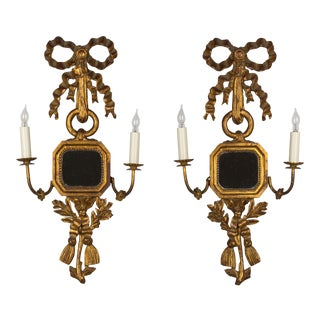 Italian Giltwood Sconces - a Pair For Sale