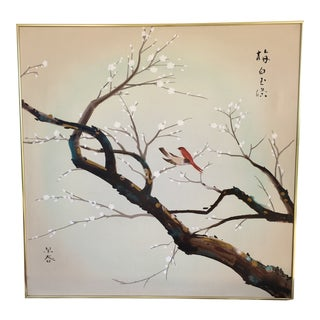 Cherry Blossom Oil Painting For Sale