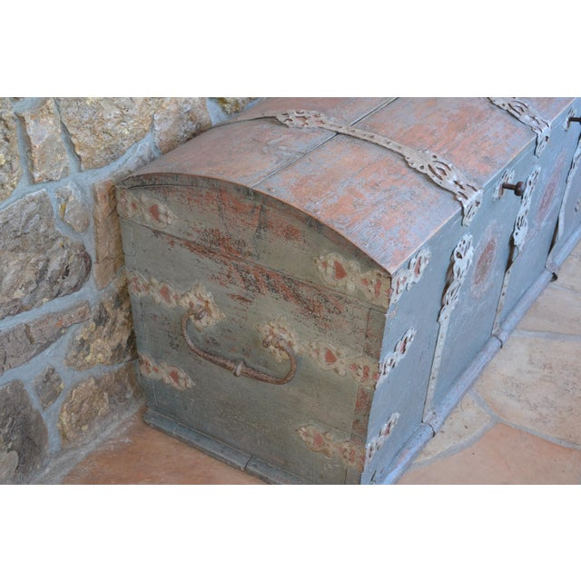 Antique Swedish Immigrant Trunk For Sale - Image 4 of 4