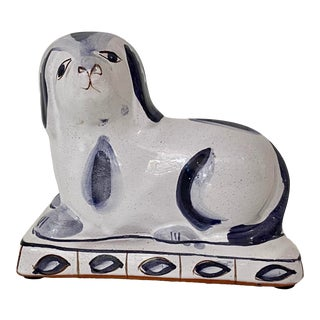Vintage Staffordshire Style Terra Cotta Dog-Made in Portugal For Sale