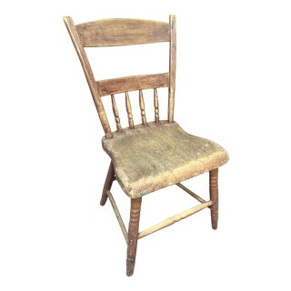 Primitive Wooden Chair For Sale