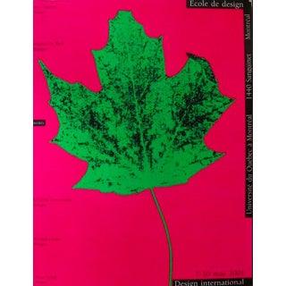2001 Original Design International Poster, Leaf - Alfred Halasa For Sale