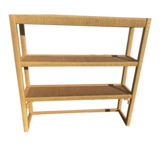 Vintage Henry Link Wicker Shelves For Sale