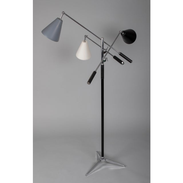 Boho Chic 1960s Brutalist Angelo Lelii for Arredoluce Triennale Lamp For Sale - Image 3 of 8