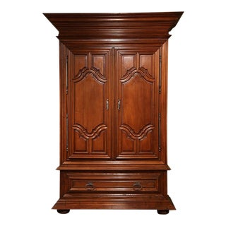 18th C. French Louis XIII Walnut Armoire For Sale