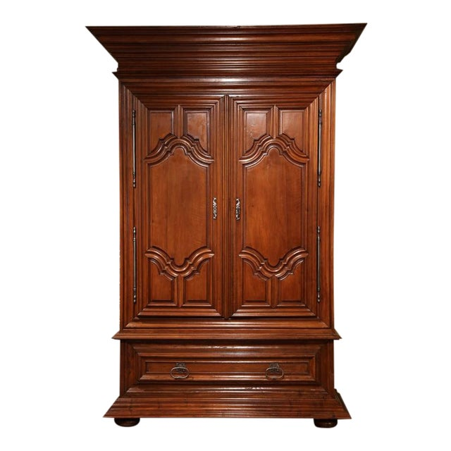 18th c french louis xiii walnut armoire chairish. Black Bedroom Furniture Sets. Home Design Ideas