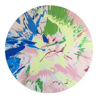 Abstract Pink/Green/Blue Color Field II For Sale