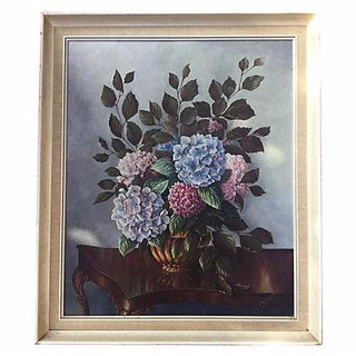 Still Life Painting of Hydrangeas For Sale