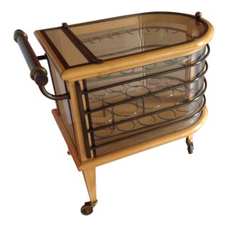 French Art Deco Bar Cart Designed by Jacques Adnet, Circa 1930, Paris For Sale