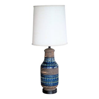 Aldo Londi Rimini Blu Large Ceramic Table Lamp for Bitossi For Sale