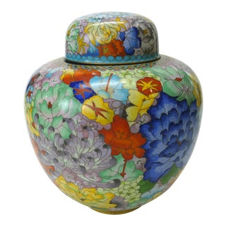 Chinese Cloisonne Ginger Jar For Sale