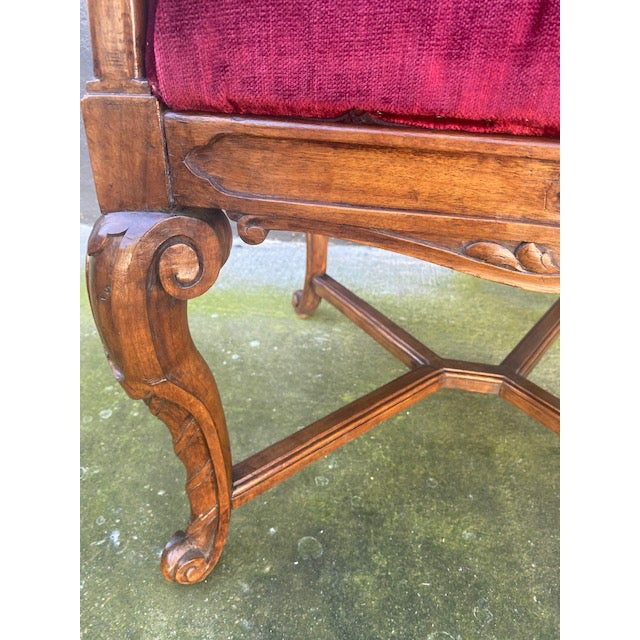Late 19th Century 19th C. English Gothic Single Armchair For Sale - Image 5 of 13