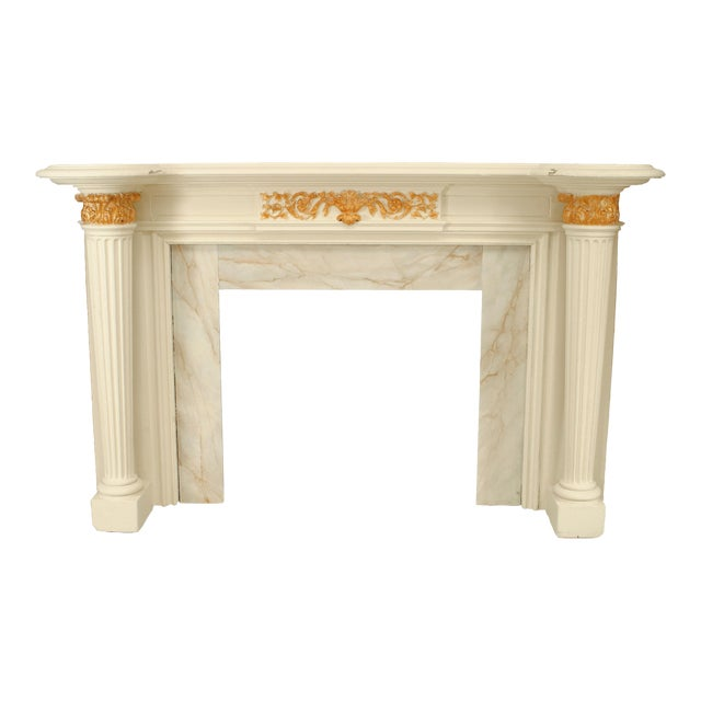 Georgian Painted Fireplace Mantel For Sale
