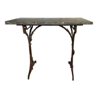 French Iron & Marble Pastry Table For Sale