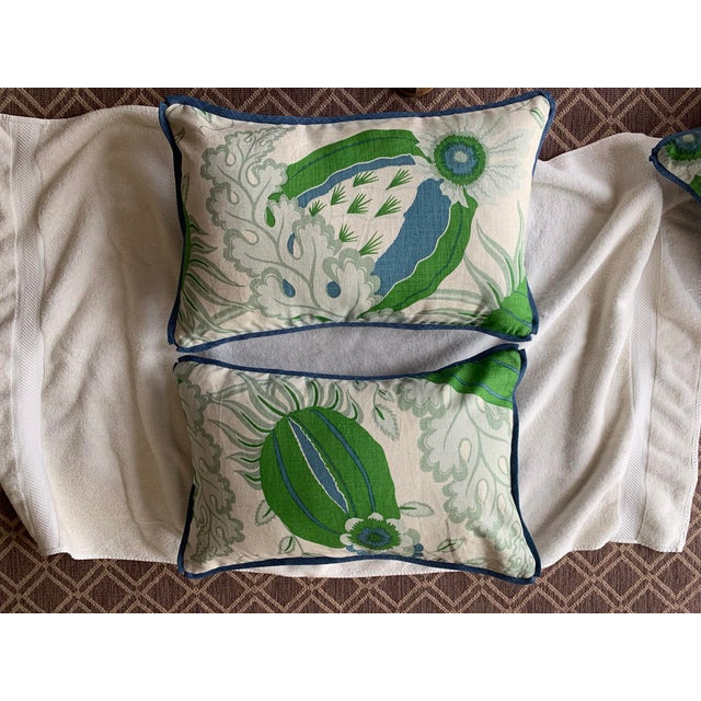 2010s Christopher Farr Cloth Lumbar Pillows - a Pair For Sale - Image 5 of 5