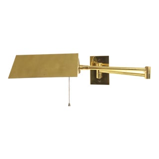 Koch & Lowy Brass Swing Arm Wall Light