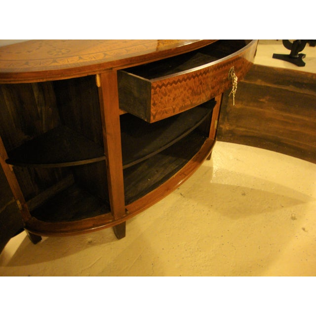 Adams Style Demilune Console Tables - A Pair For Sale - Image 9 of 11
