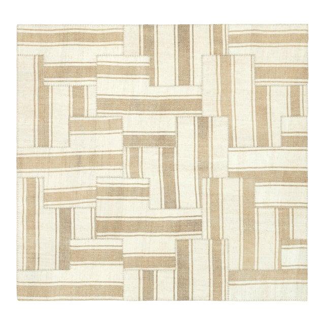 Mid 20th Century Vintage Kilim Composition Rug- 5′10″ × 6′ For Sale