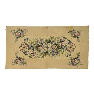 Antique American Hooked Rug With French Aubusson Style - 03'02 X 06'03 For Sale