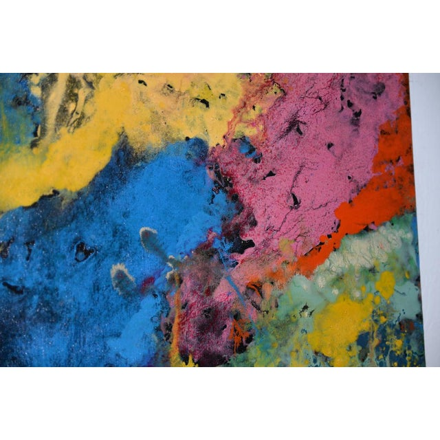 21st C. Modernist Abstract Oil Painting by Manor Shadian (B.1931 Iran / California) For Sale - Image 9 of 12