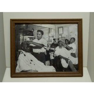 "Original Framed Black & White Photograph ""The Barbershop"" by Teenie Harris Preview"