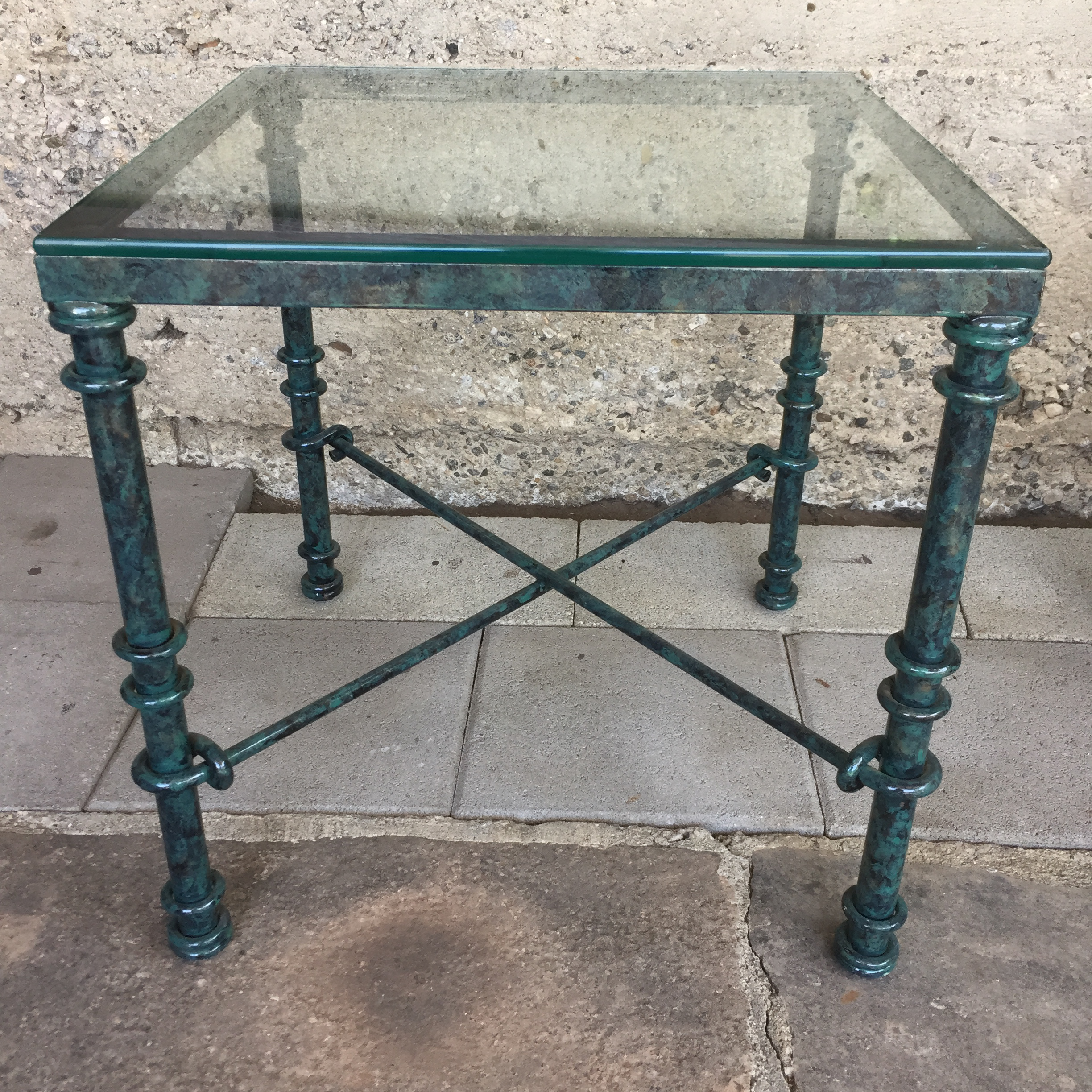 A Pair Of Matching End Tables. Use Outdoors, Perfect For Patio Or Deck. Contemporary  Contemporary Glass ...