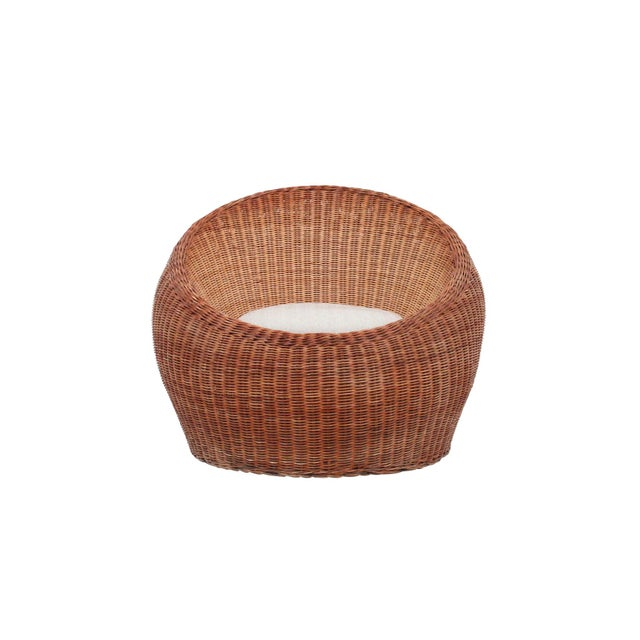 Isamu Kenmochi Rattan Lounge Chair For Sale - Image 13 of 13
