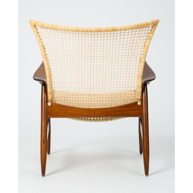 1950s Lounge Chair With Cane Seat by Ib Kofod-Larsen for Selig For Sale - Image 5 of 13