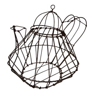 French Antique Wire Teapot For Sale