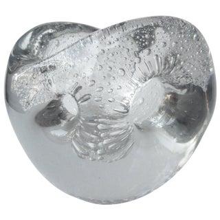 "Timo Sarpaneva Rare, Glass Vase 'Devil's Pearl"" 1955 for Iittala, Signed For Sale"