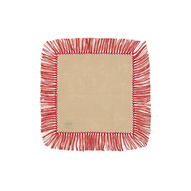 Complete your table with one of our Hibiscus Linen's favorites. Our popular 100% linen napkins are accented with a...