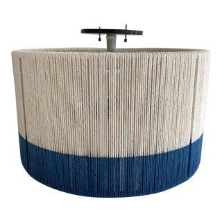 Bone Simple Horizon String Drum Ceiling Fixture For Sale