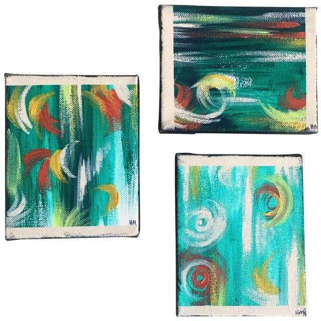 """Imbue"" No. 1, 2 & 3 Modern Series Paintings - Image 1 of 7"