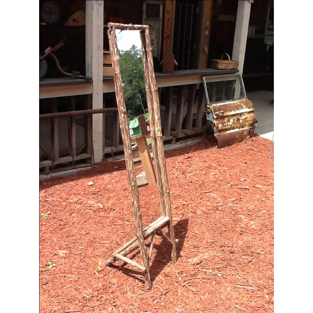 Rustic Standing Mirror - Image 4 of 7