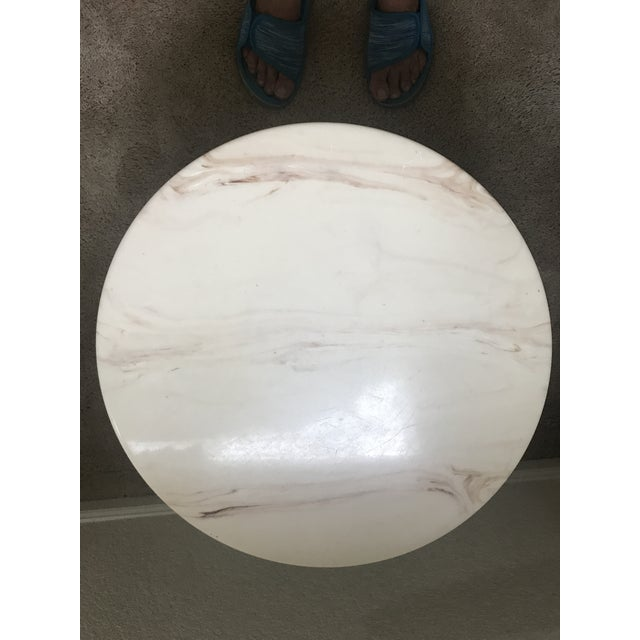Hollywood Regency Marble Accent Table For Sale - Image 4 of 6