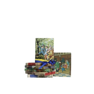 Vintage Decorative Book Gift Set: Illustrated Junior Library