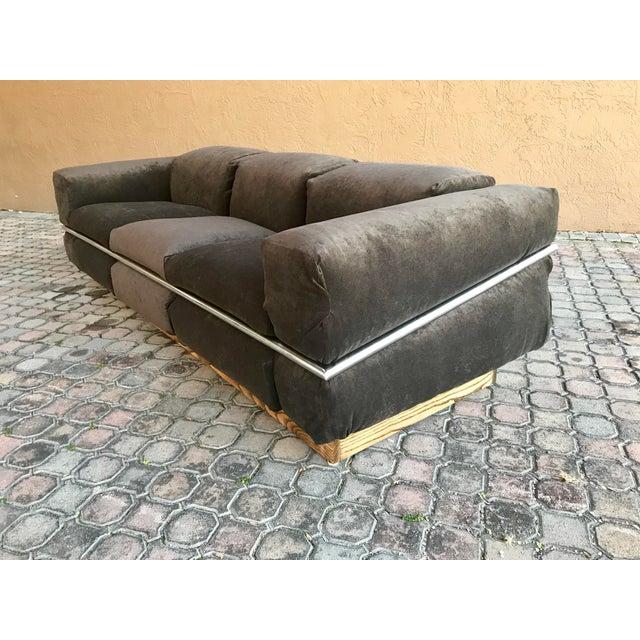 1970s Restored Craft Associates Chrome Sofa For Sale - Image 5 of 9