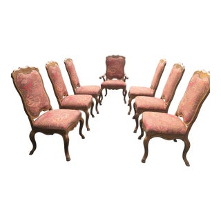 Baker Ralph Lauren Paisley Upholstered Dining Chairs - Set of 8 For Sale