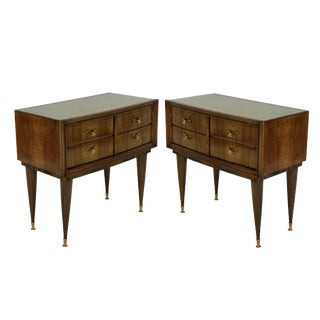A Pair of Italian Mid Century Night Stands For Sale