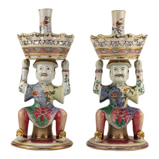 Mottahedeh Style Chinese Inspired Epergnes - a Pair For Sale