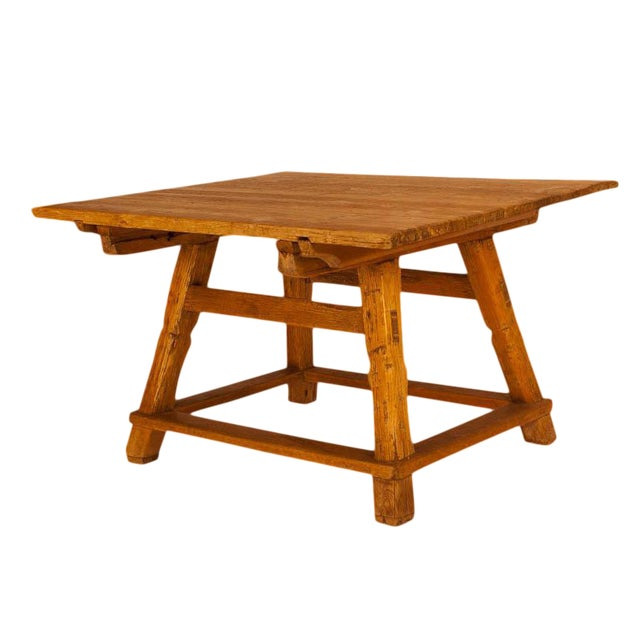 Circa 1840 Swiss Rustic Table For Sale